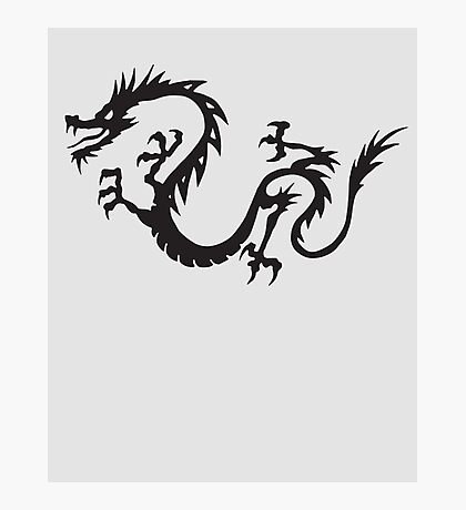 Oriental Japanese Dragon Photographic Print