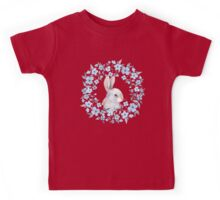 Rabbit and floral wreath Kids Tee
