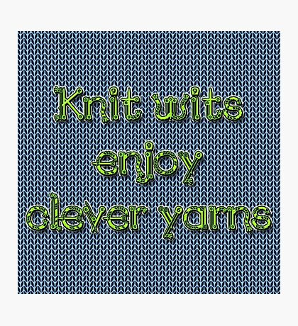 Knit wits Photographic Print