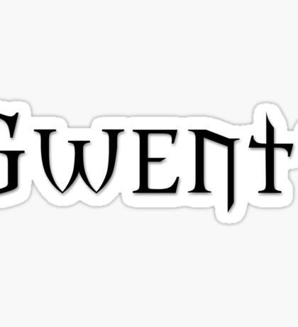 GWENT (Black) -The Witcher Sticker
