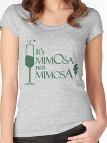 Wingardium MimOsa - Emerald/Silver Women's Fitted Scoop T-Shirt