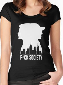F*CK SOCIETY Women's Fitted Scoop T-Shirt