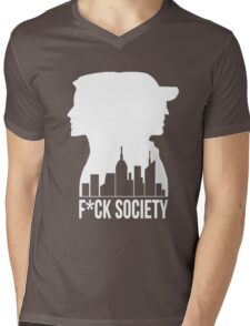 F*CK SOCIETY Mens V-Neck T-Shirt