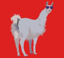 Cool Llama In Sunglasses Baby Tee