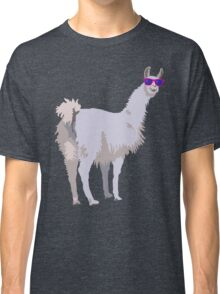 Cool Llama In Sunglasses Classic T-Shirt