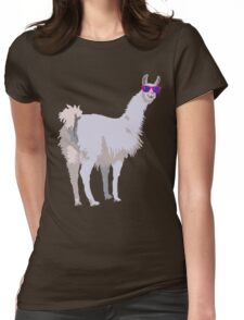 Cool Llama In Sunglasses Womens Fitted T-Shirt