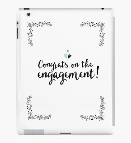 Congrats on The Engagement iPad Case/Skin