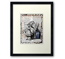 Little Girl Found Police Public Call Box on Old Newspaper Framed Print
