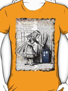 Little Girl Found Police Public Call Box on Old Newspaper T-Shirt