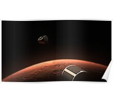 SpaceX Red Dragon at Mars Poster