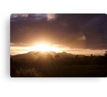 mr. golden sun stationary Canvas Print