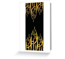 art deco gold Greeting Card