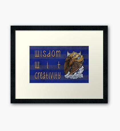 The Eagle's Wit Framed Print
