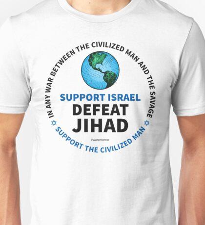 Support Israel, Defeat Jihad Unisex T-Shirt