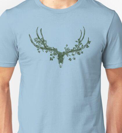 Deer Skull Paper-Cut Unisex T-Shirt