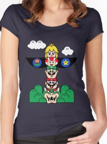 Mushroom Totem Women's Fitted Scoop T-Shirt