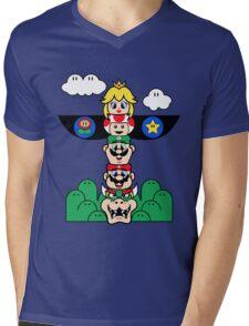 Mushroom Totem Mens V-Neck T-Shirt