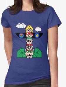 Mushroom Totem Womens Fitted T-Shirt