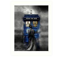 Mysterious Time traveller with Black suit Art Print