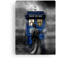 Mysterious Time traveller with Black suit Canvas Print