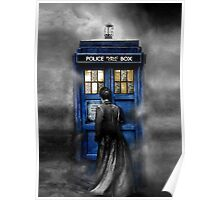 Mysterious Time traveller with Black suit Poster