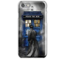 Mysterious Time traveller with Black suit iPhone Case/Skin