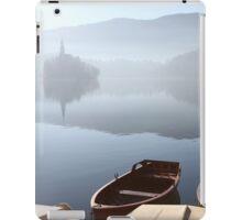 Church in mist on Lake Bled Slovenia iPad Case/Skin