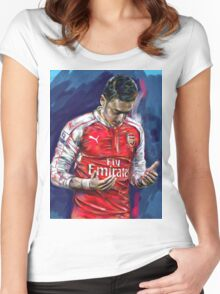 Mesut Ozil - the Ozil touch Women's Fitted Scoop T-Shirt