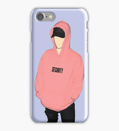 "Justin Bieber Pink ""SECURITY"" Hoodie Drawing iPhone Case/Skin"