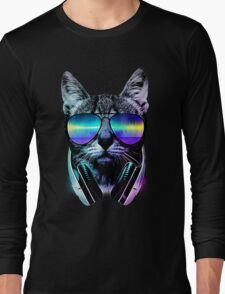 Music Lover Cat Long Sleeve T-Shirt