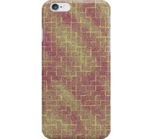 Red and Yellow Maze iPhone Case/Skin