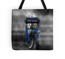 Mysterious Time traveller with Black suit Tote Bag