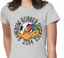 Loudoun Soccer - Rainbow Duckies Womens Fitted T-Shirt
