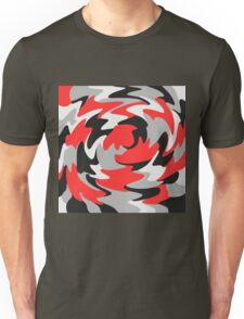 Abstract Color Warp Unisex T-Shirt