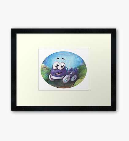 Putt putt retro game Framed Print