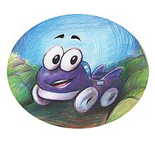 Putt putt retro game Photographic Print