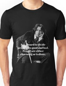 Oscar Wilde - People are either charming or tedious Unisex T-Shirt