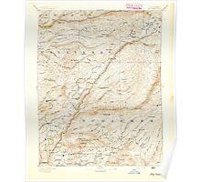 USGS TOPO Map California CA Big Trees 299215 1894 125000 geo Poster