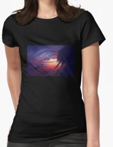 Barrel at Sunset Womens Fitted T-Shirt