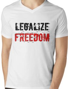 Legalize Freedom 3 Mens V-Neck T-Shirt