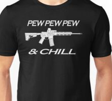 Pew and Chill White  Unisex T-Shirt