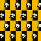 Wing Skull - YELLOW (Pattern 2) by Adamzworld