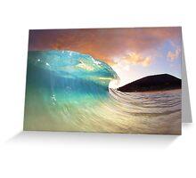Maui Sunset Shorebreak Greeting Card