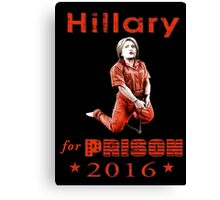 Hillary arrested Canvas Print