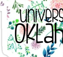 Light Floral University of Oklahoma Sticker