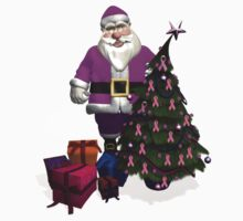 Santa Claus Dressed In Pink Kids Clothes