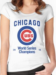 Chicago Cubs (World Series Edition) Women's Fitted Scoop T-Shirt