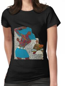 Psychedelic Paisley Rock n roll Womens Fitted T-Shirt