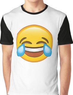 Laughing Crying/Tears of joy Emoji Graphic T-Shirt