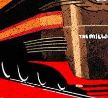 TRAIN THE MILWAUKEE ROAD THE HIAWATHAS VINTAGE STYLE ART DECO TRAVEL DECAL Sticker